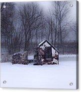 Snowing At Narcissa Road Springhouse Acrylic Print