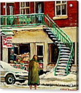 Snowing At The Five And Dime Acrylic Print