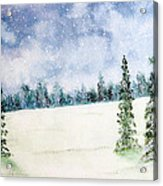Snowing In Christmas Acrylic Print