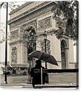 Snowing In Paris Acrylic Print