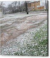 Snowing Acrylic Print by Rosalie Klidies