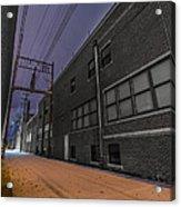 Snowlit Alley Acrylic Print
