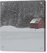 Snowmaking Pond Acrylic Print