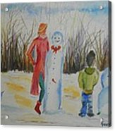 Snowman Competition Acrylic Print