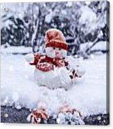 Snowman Acrylic Print by Joana Kruse