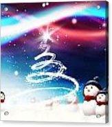 Snowman New Year Acrylic Print