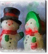 Snowman Photo Art 09 Acrylic Print