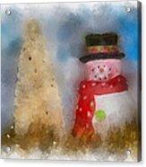 Snowman Photo Art 13 Acrylic Print