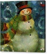 Snowman Photo Art 16 Acrylic Print