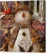Snowman Photo Art 30 Acrylic Print