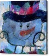 Snowman Photo Art 34 Acrylic Print