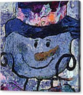 Snowman Photo Art 35 Acrylic Print
