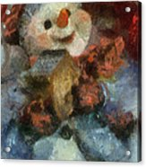 Snowman Photo Art 47 Acrylic Print