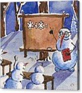 Snowman University Acrylic Print