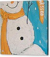 Snowman University Of Tennessee Acrylic Print