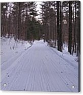 Snowmobile Trail Acrylic Print