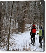 Snowshoeing In The Park Acrylic Print