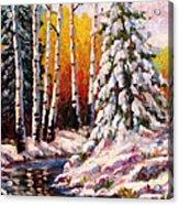 Snowy Banks Acrylic Print