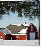 Snowy Barn-0087 Acrylic Print