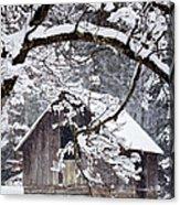 Snowy Barn 2 Acrylic Print