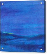 Snowy Blue Nocturne Acrylic Print