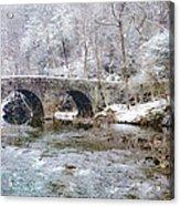 Snowy Bridge Along The Wissahickon Acrylic Print