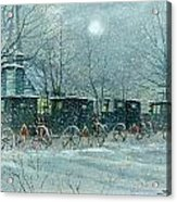 Snowy Carriages Acrylic Print