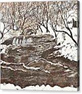 Snowy Creek Acrylic Print by Leo Gehrtz