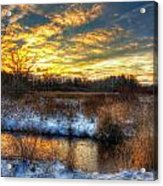 Snowy Dawn At South Ore Creek Acrylic Print