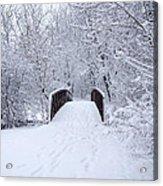Snowy Day Bridge Acrylic Print