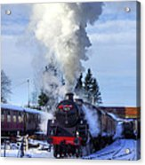 Snowy Day Departure Acrylic Print