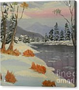 Snowy Day In Europe Acrylic Print