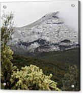 Snowy Desert Mountain 1 Acrylic Print
