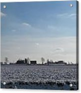 Snowy Farmfield Acrylic Print