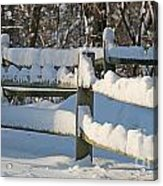Snowy Fence Acrylic Print