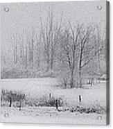 Snowy Fields Acrylic Print by Michele Steffey