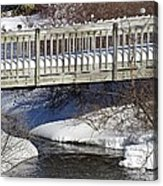 Snowy Foot Bridge Acrylic Print