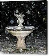 Snowy Fountain Acrylic Print