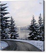 Snowy Gorge Acrylic Print