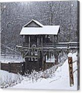 New Salem Grist Mill In The Snow Clr Acrylic Print