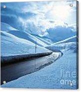 Snowy Highway Acrylic Print