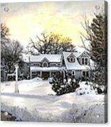 Snowy Home Acrylic Print