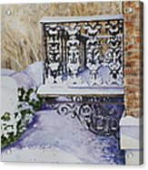 Snowy Ironwork Acrylic Print