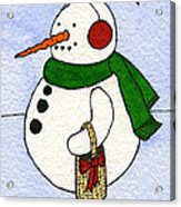 Snowy Man Acrylic Print