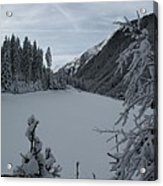Snowy Meadow Acrylic Print