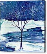 Snowy Moment Acrylic Print