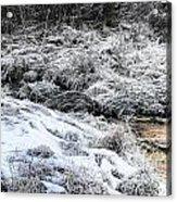 Snowy Mountain Stream V2 Acrylic Print