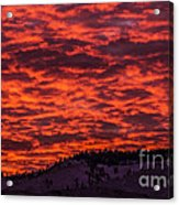 Snowy Mountain Sunset Acrylic Print