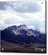 Snowy Mountains In Spring Acrylic Print