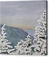 Snowy Mountains Of Nek Acrylic Print